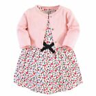 Touched By Nature Girl Organic Cotton Dress and Cardigan, Ditsy Floral