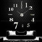 Fashion Modern DIY Large Number Wall Clock 3D Mirror Surface Sticker Home Decor