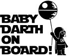 Star Wars Baby Darth On Board Vinyl Decal Sticker for Car Van Laptop Tablet Wall $5.21 AUD on eBay