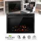 Wall Insert Freestand Electric Heat Fireplace Heater w/Remote LED Log Flame