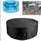 Large Round Waterproof Outdoor Garden Patio Table Chair Furniture Cover
