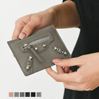 MINI TILUS SLIM CARD SLOTS  COIN POCKET WALLET MOTORCYCLE  REAL COWHIDE LEATHER  image