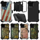 For Apple iPhone 11 / 11 Pro Max Camo Case w/(Belt Clip Fits Otterbox Defender)