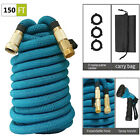 50ft-150ft Garden Hose Expandable Water Hose Solid Brass Extra Strength Fabric