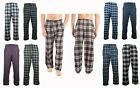 Mens Pajama Pants Lightweight Soft Flannel Plaid Lounge Sleep Bottoms 2 Pockets