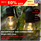 36FT OUTDOOR GARDEN WEDDING INDUSTRIAL FESTOON BULBS STRING LIGHTS XMAS DECOR UK
