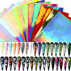 Nail Foil Vinyls Holographic Hollow Stencil Stickers Decals Nail Art Decoration