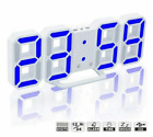 Modern Design 3D Wall Clock Digital Wall Watch LED Table Desktop Alarm Clock