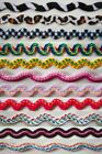 "10 Yards Embroidered or Animal Print 3/8"" - 5/8"" Rick Rack - Color Choices"