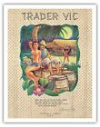 Trader Vic's Restaurant Menu Honolulu Hawaii - 1949 Vintage Menu Cover Art Print