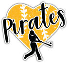 "Pittsburgh Pirates Heart MLB Baseball Car Bumper Sticker Decal ''SIZES"" on Ebay"