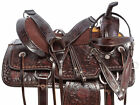 Western Saddle 15 16 17 18 in Barrel Racing Trail Brown Black Leather Horse Tack
