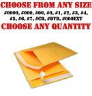 KRAFT BUBBLE MAILERS SHIPPING MAILING BAGS PADDED ENVELOPES SELF-SEAL ANY SIZES