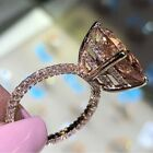 Morganite Zircon Rose Gold Plated Womens Wedding Rings Jewelry Size 6-10 Nj301