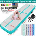 10/13/16ft 20cm Airtrack Air Track Home Inflatable Gymnastics Tumbling Mat +Pump image