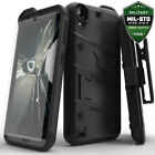 HTC Desire 530 Bolt Series Hybird Case with Kickstand and Tempered Glass