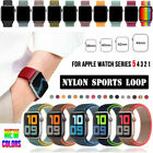 Nylon Sport Loop iWatch Band Strap for Apple Watch Series 5 4 3 2 38/42/40/44mm image