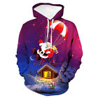 Christmast Lovely Digital Printed Hoodie Long Sleeves Casual Party Sweater Tops