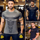 US Stock Men's Casual Gym Slim Fit Short Sleeve Muscle Tee Tops T-shirt Blouse image