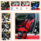 PU Leather Car Seat Covers Cushion Full Set Front/Rear SUV Truck Bucket $89.95 USD on eBay