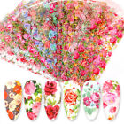 10 Sheets Nail Art Foils Stickers Flower Pattern Transfer Decals Decoration Tips