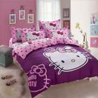 Purple Princess Hello Kitty Kids Bedding Duvet Cover Bed Sheet twin full queen image