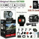 New Akaso EK7000 Action Camera Ultra HD 4K Wifi 12MP Sports DV Camcorder +32G SD