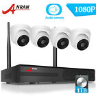 ANRAN Wireless Security Camera System 8CH HD 1080P CCTV WIFI Kit NVR Outdoor 2TB