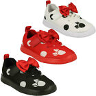 GIRLS CLARKS ATH BOW HOOK  LOOP INFANT DISNEY MINNIE MOUSE CASUAL TRAINERS SIZE