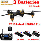 Hubsan X4 H501S S Pro Drone FPV Quadcopter 5.8G 1080P GPS Brusheless +3Battery