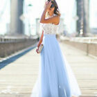 Women Formal Prom Evening Bridesmaid Wedding Cocktail Party Ball Gown Maxi Dress