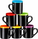 Bruntmor Ceramic Tea Coffee Cups Mugs Set of 6 Large sized 12 Ounce