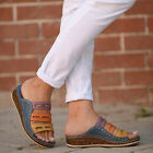 Womens Wide Fit Flat Sandals Wedges Slippers Ladies Flip Flops Mules Shoes Size