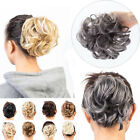 Real As Human Messy Bun Ponytail Scrunchie Tousled Hair Piece Extensions Updo US