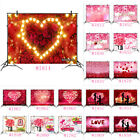 Valentine's Day Backdrop Red Hearts Roses Photography Background Studio Props
