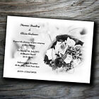 Personalised Handmade Postcard Wedding Day Evening Invitations with Envelopes