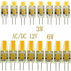 100pcs G4 COB Led Crystal Light 3W 6W LED Lamp Silicone Bulb AC/DC 12V 1pc 50pc