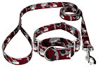 Country Brook Petz® Crimson and White Camo Martingale Dog Collar and Leash