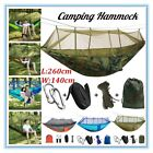 Double Person Camping Hammock With Mosquito Net + Rain Cover Tent Tarp Pad Mat