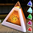Modern LED Small Digital Table Alarm Clock Changing Color Night Light Clocks