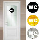 Acrylic Toilet Wc Home Decoration Mirror Sticker Wall Sticker Door Sign