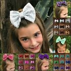 Kyпить Hair bows 3 or 5 inch sequin sparkle on clip baby toddler girl 40 colors pigtail на еВаy.соm