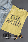 The Band T Shirt the last waltz / Bob Dylan vintage classic rock band / old gold image