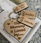 PERSONALISED GIFTS FOR HER MOTHER'S DAY GIFT MUMMY NANNY GRANNY HEART KEYRING