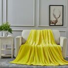 All American Collection Super Soft Ultra Plush Microfiber Solid Throw Blanket