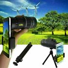 Monocular 40X60 Zoom Optical HD Lens Telescope +Tripod+Clip For Smart Cell Phone