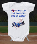 Los Angeles Dodgers Onesie Shirt  Love To Watch With Mommy on Ebay