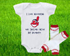 Cleveland Indians Outfit Onesie And Leggings Set Watching WIth Grandpa on Ebay