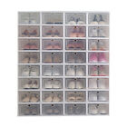 12-24pack Foldable Shoe Box Storage Plastic Transparent Case Stackable Organize