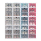 Kyпить 12-24pack Foldable Shoe Box Storage Plastic Transparent Case Stackable Organize на еВаy.соm